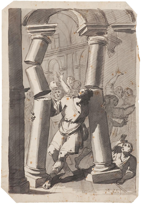 Samsó enderroca les columnes del temple, Vicente Rodés