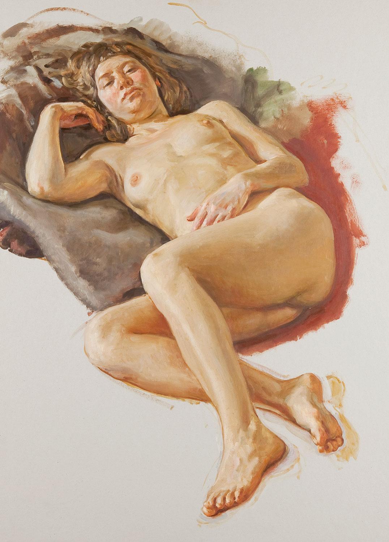 Nu sobre cartó, Xavier Serra de Rivera