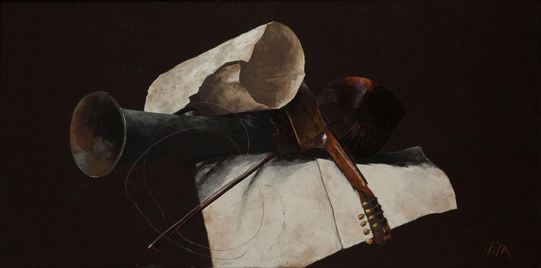 Nature morte aux instruments de musique, Pierre Skira