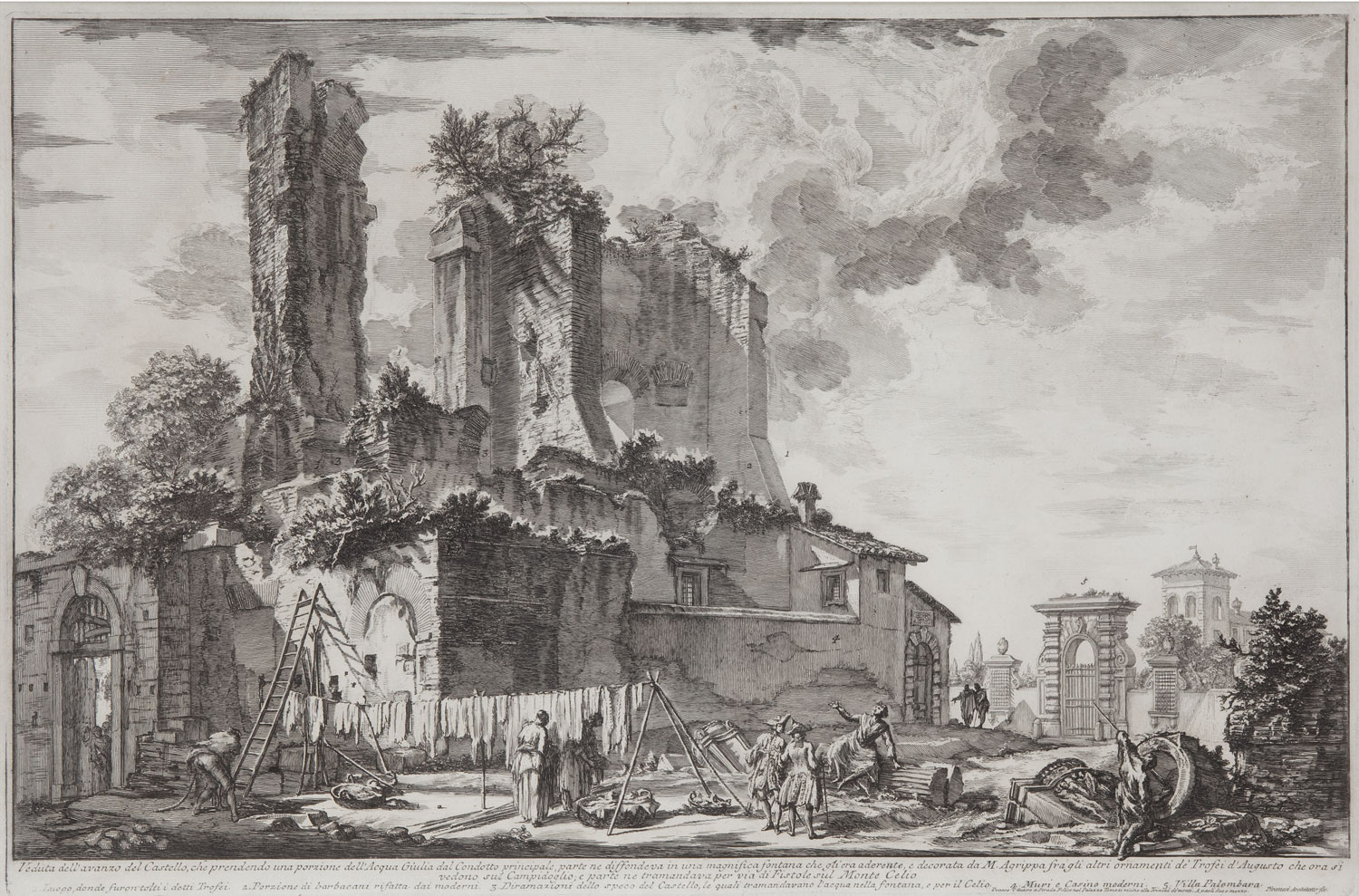 Veduta dell'avanzo del castello, Giovanni Battista Piranesi