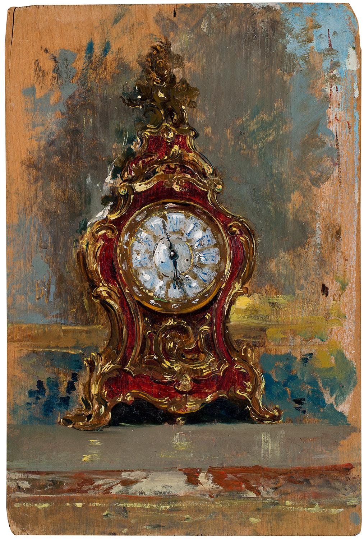 Rellotge Lluís XV. Estudi per a El col·leccionista d'estampes, Marià Fortuny