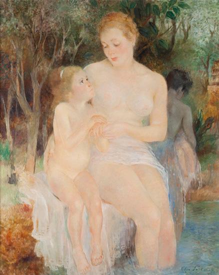 El baño, Olga Sacharoff