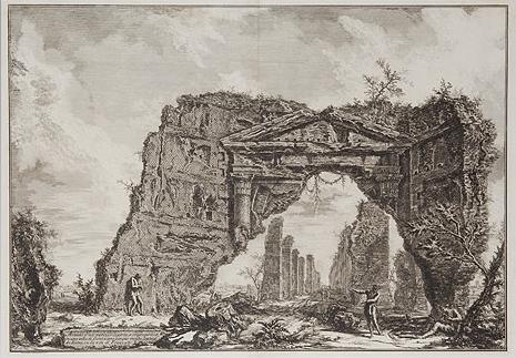 Avanzi d'un portico coperto, o criptoportico in una villa di Domiziano , Giovanni Battista Piranesi