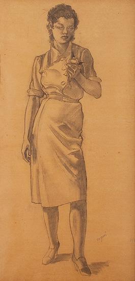 Retrato femenino, Xavier Nogués