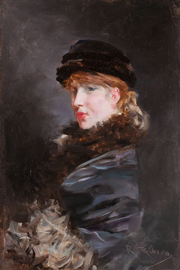 Retrat de jove, Romà Ribera