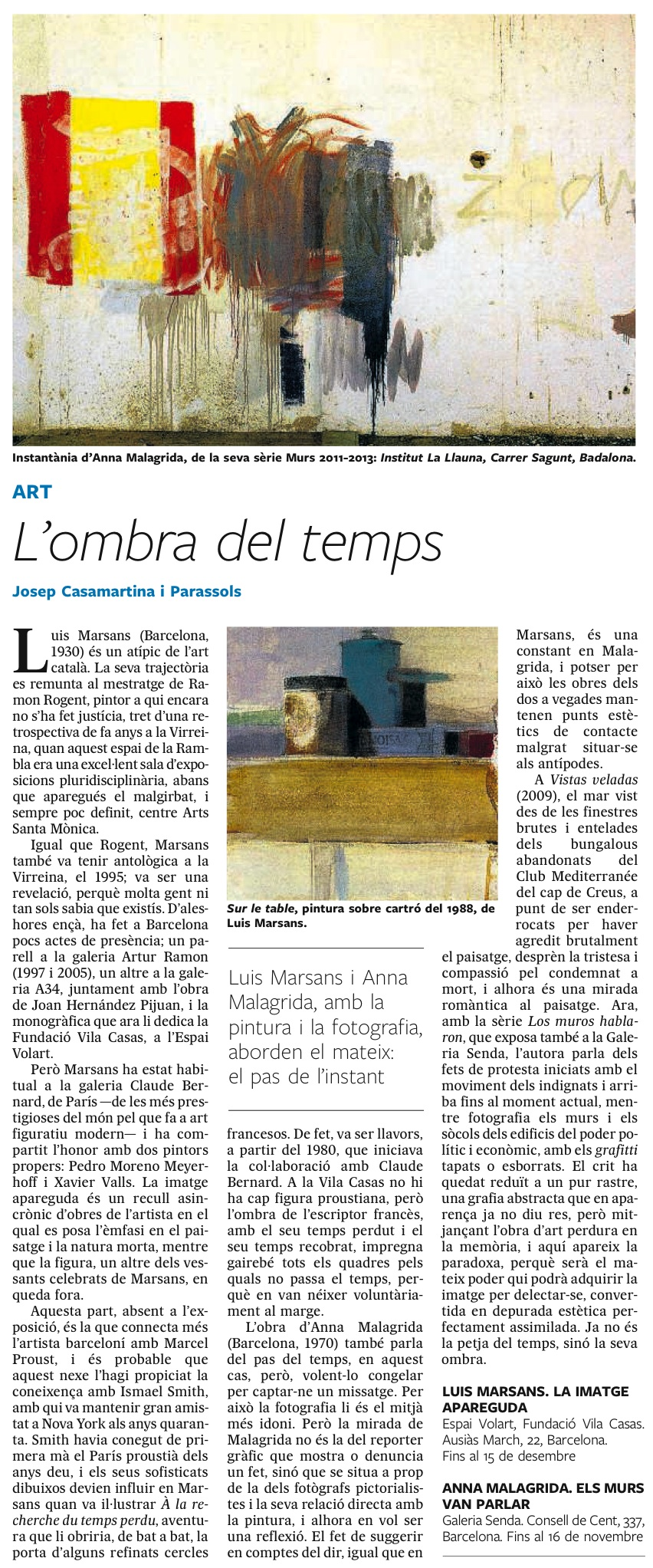 El País Quadern – L'ombra del temps