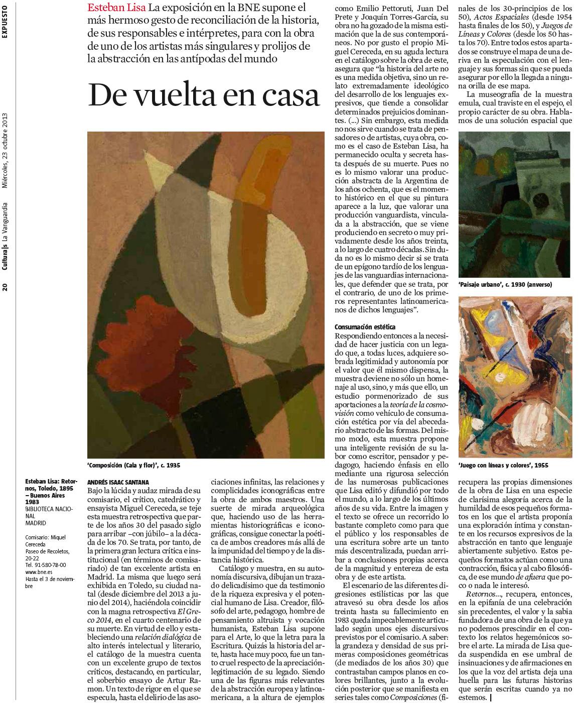 De vuelta en casa (La Vanguardia)