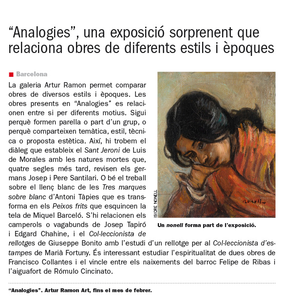 Analogies (El Temps)