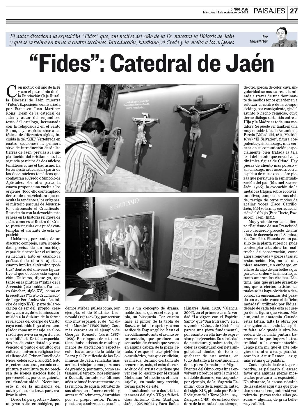 «Fides»: Catedral de Jaén (Diario de Jaén)