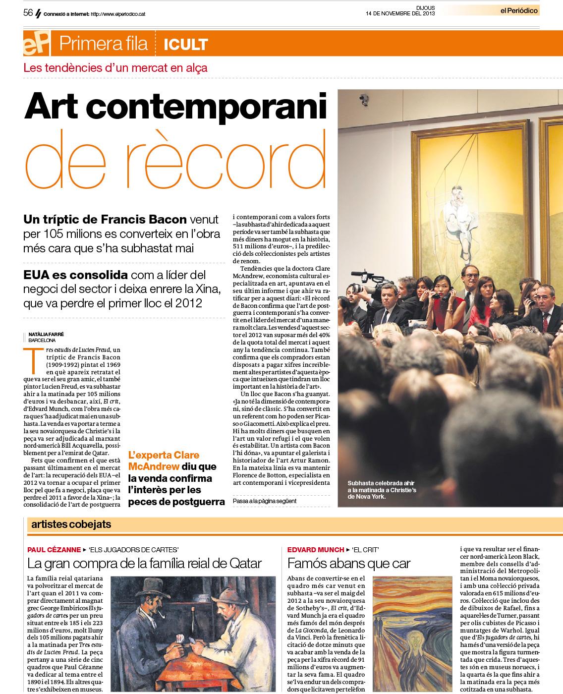 Art contemporani de rècord (El Periódico)