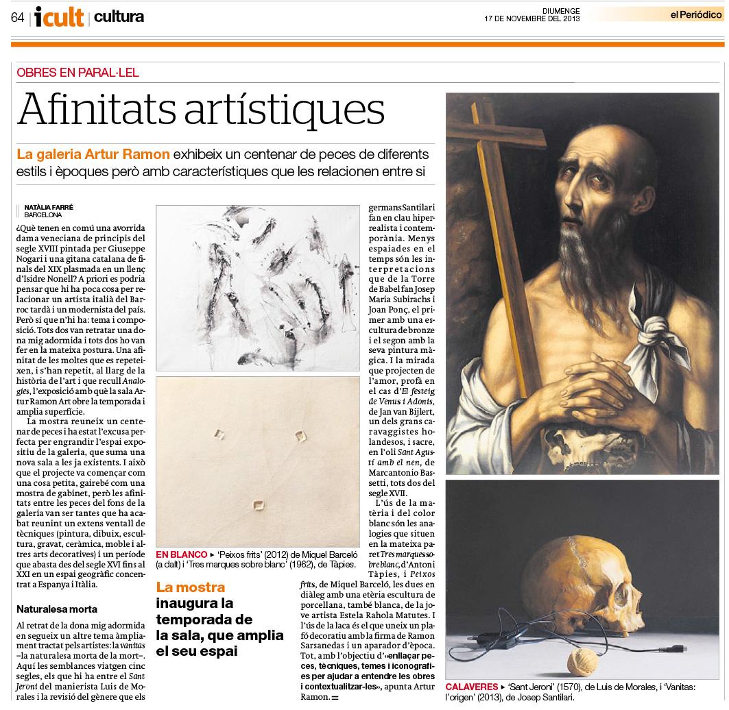 Afinitats artístiques (El Periódico)