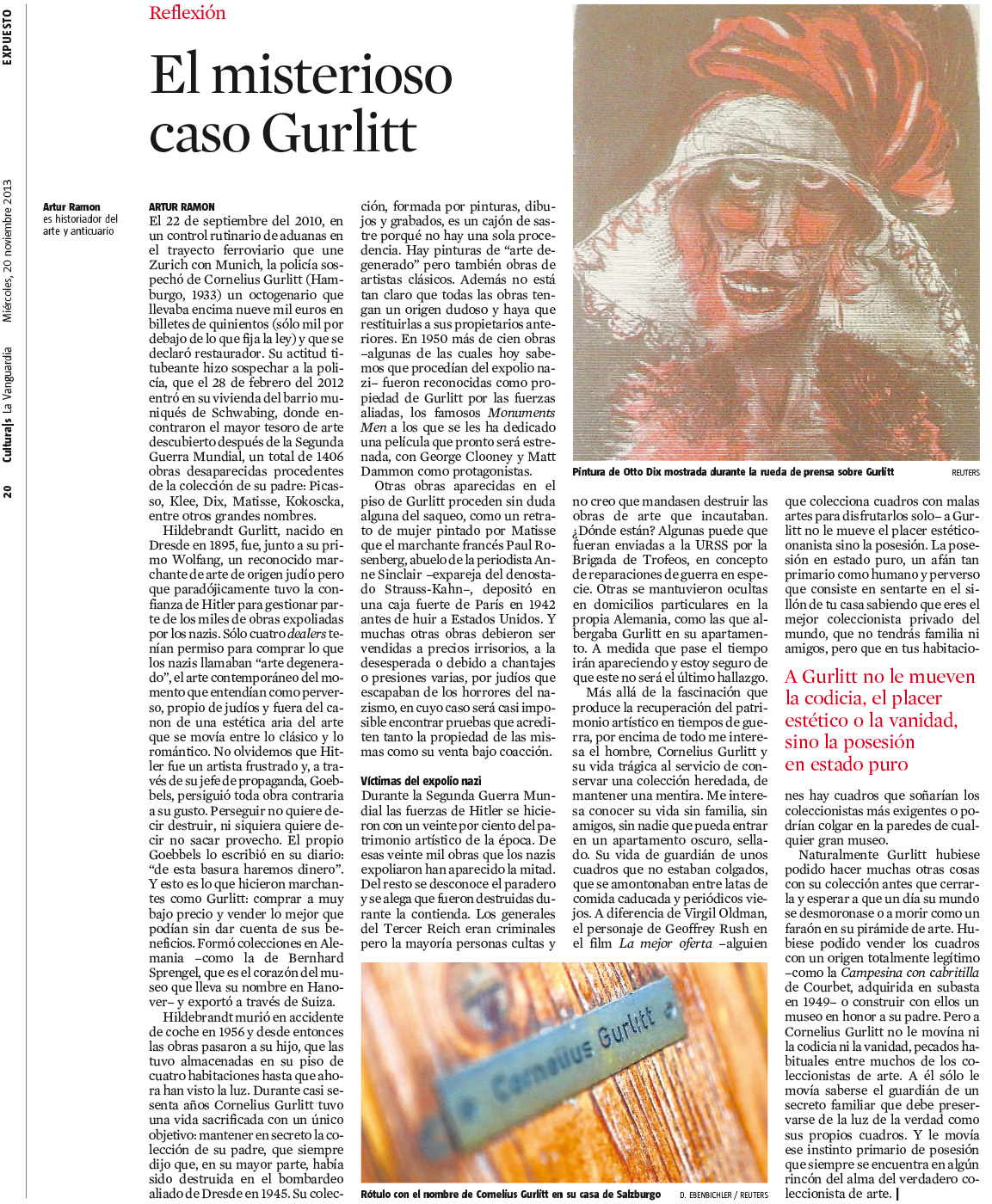 El misteriós cas Gurlitt (La Vanguardia)