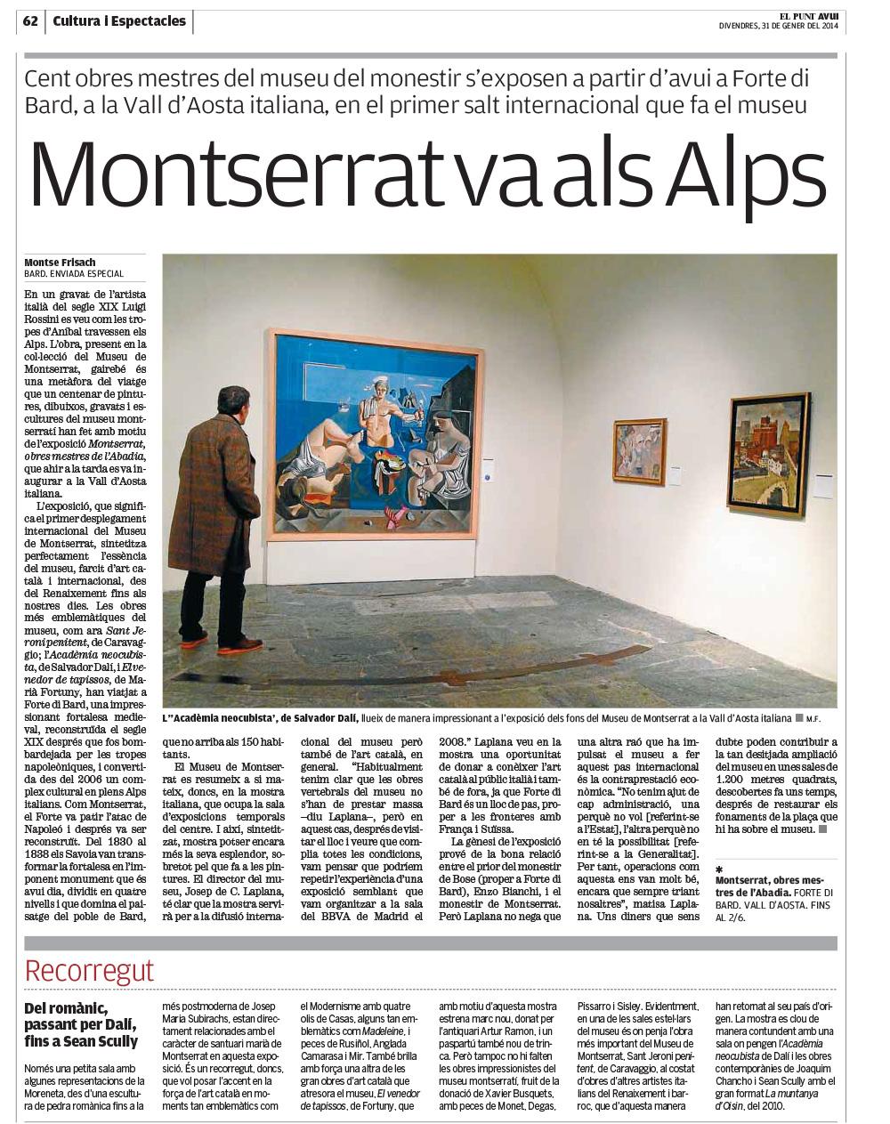 Montserrat va als Alps