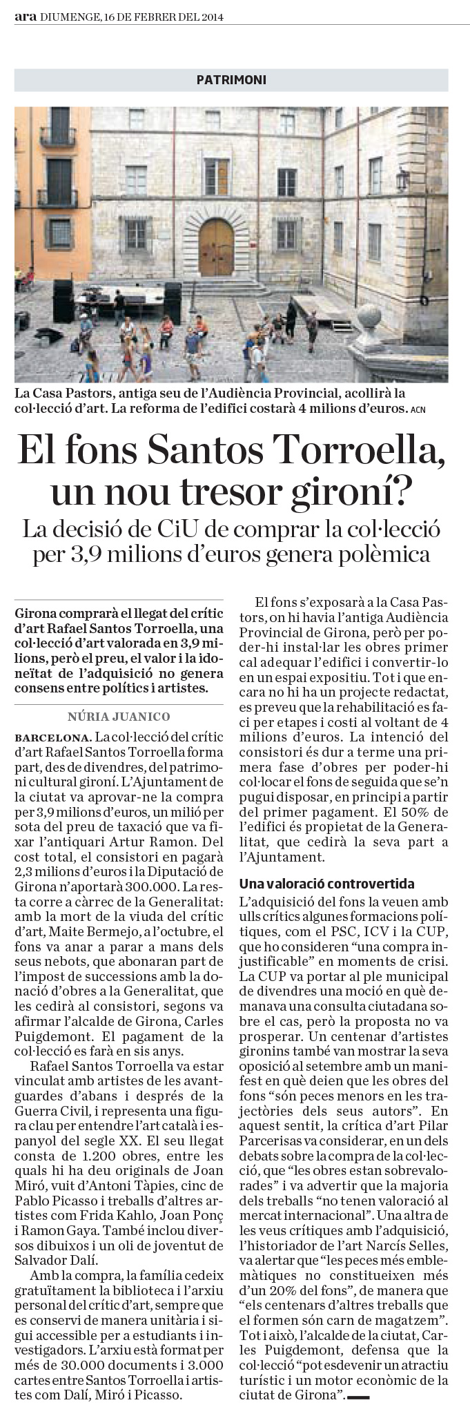 El fons Santos Torroella, un nou tresor gironí?