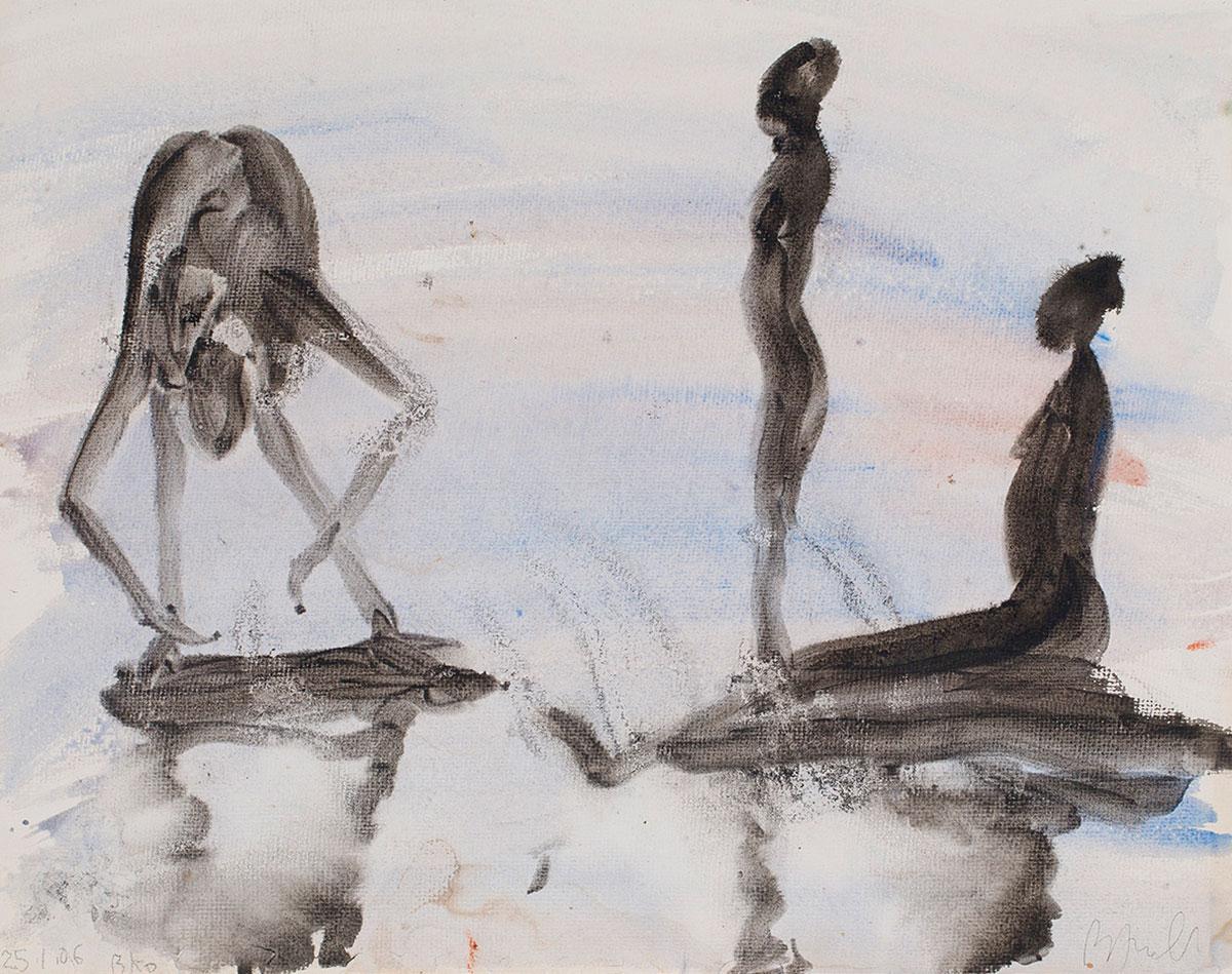 Une baigneuse et deux jeunes filles - Miquel Barceló