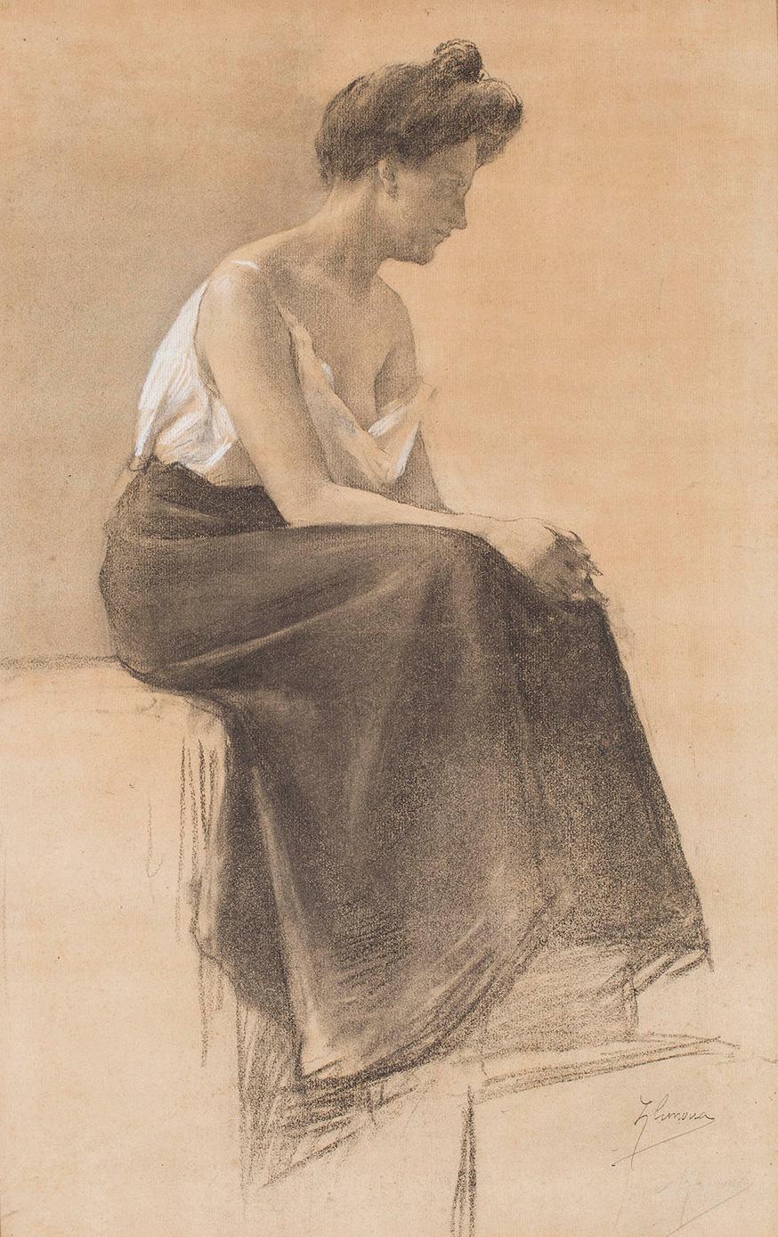 La model, Josep Llimona