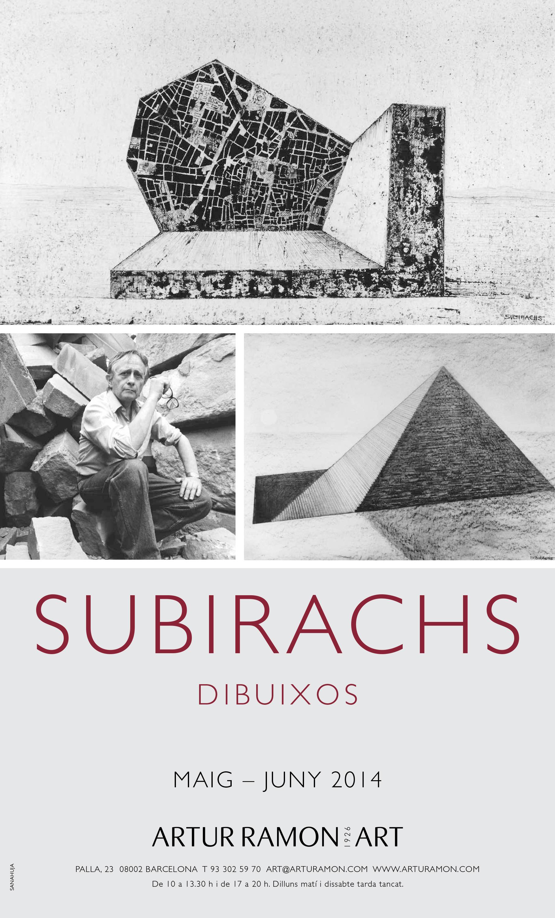 Subirachs, 8 maig - 30 juny 2014