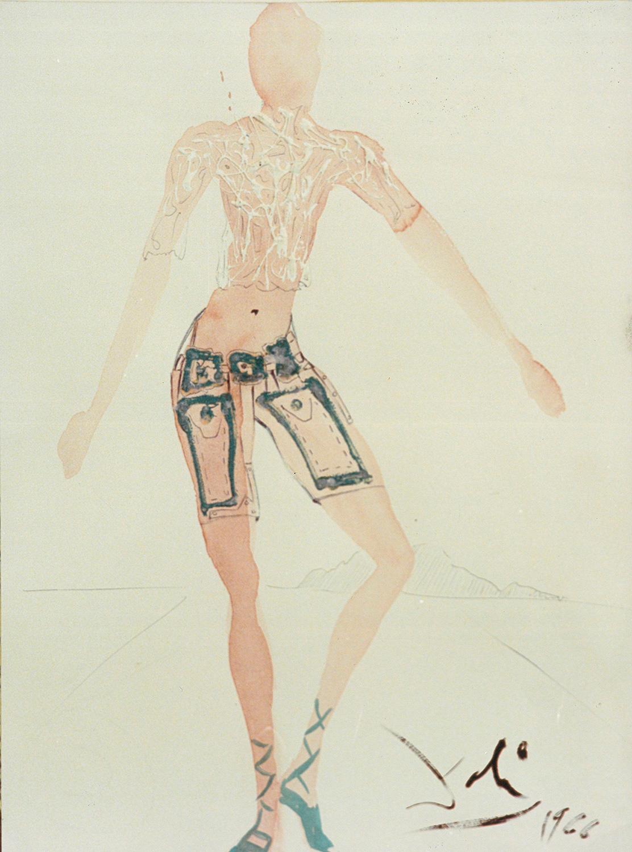 Costume de l'an 2000, pantalon court, Salvador Dalí