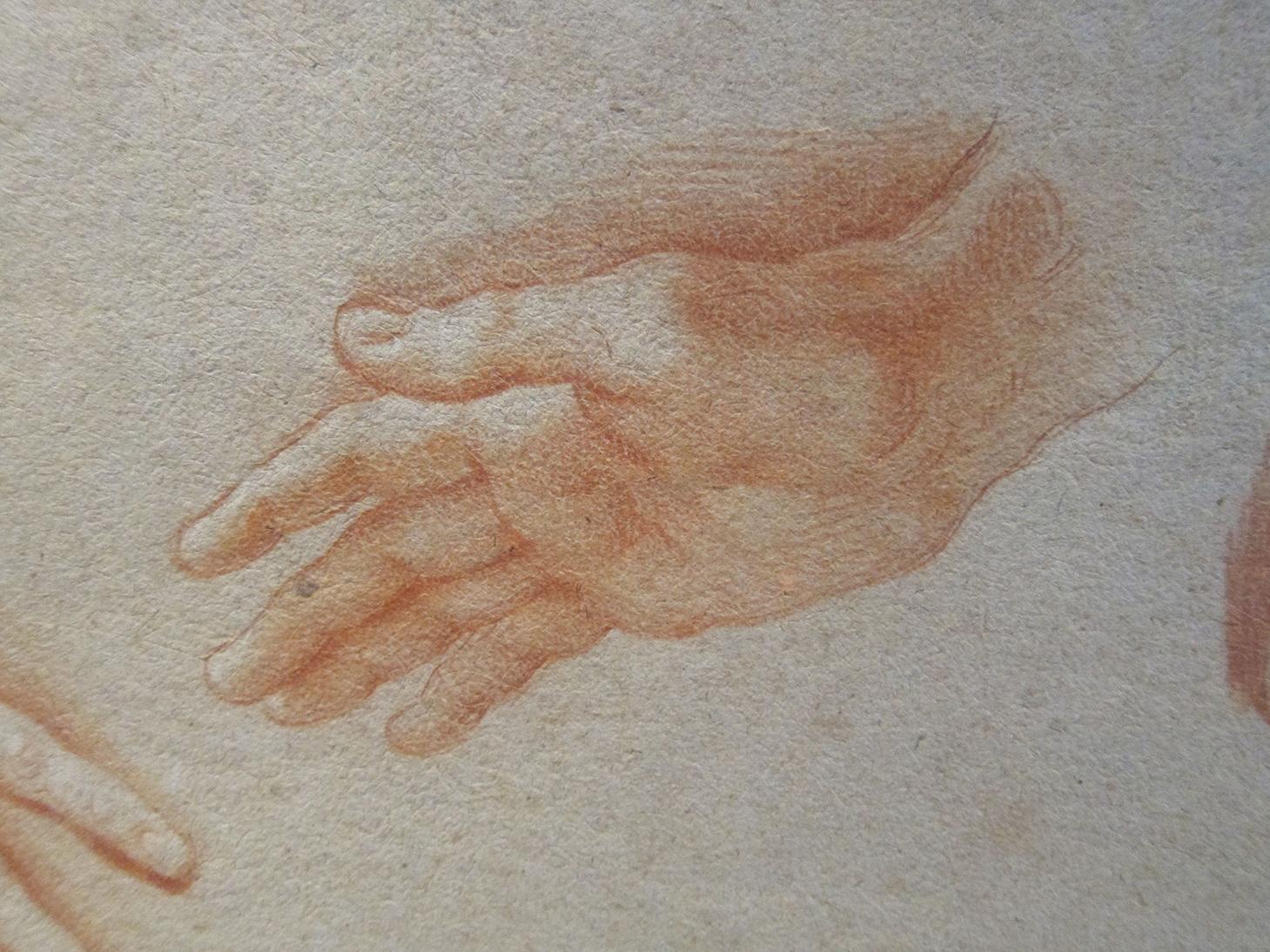 Estudi de mans, Francisco Bayeu