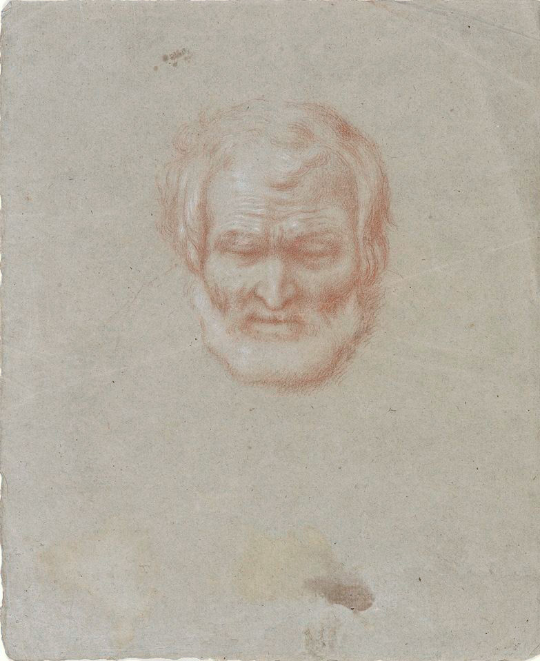 Study of a captive head , Francisco Bayeu