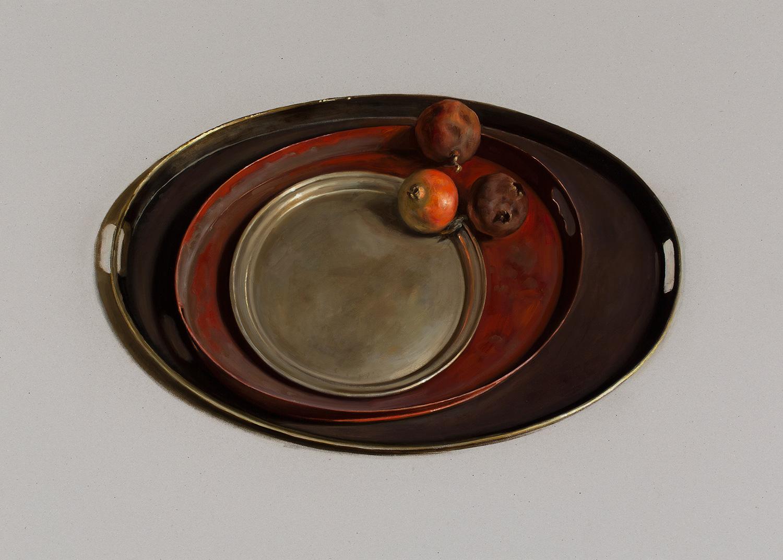 Three trays, Xavier Serra de Rivera