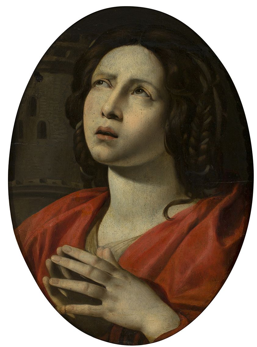 Saint Barbara, Giovanni Battista Caracciolo, detto Battistello