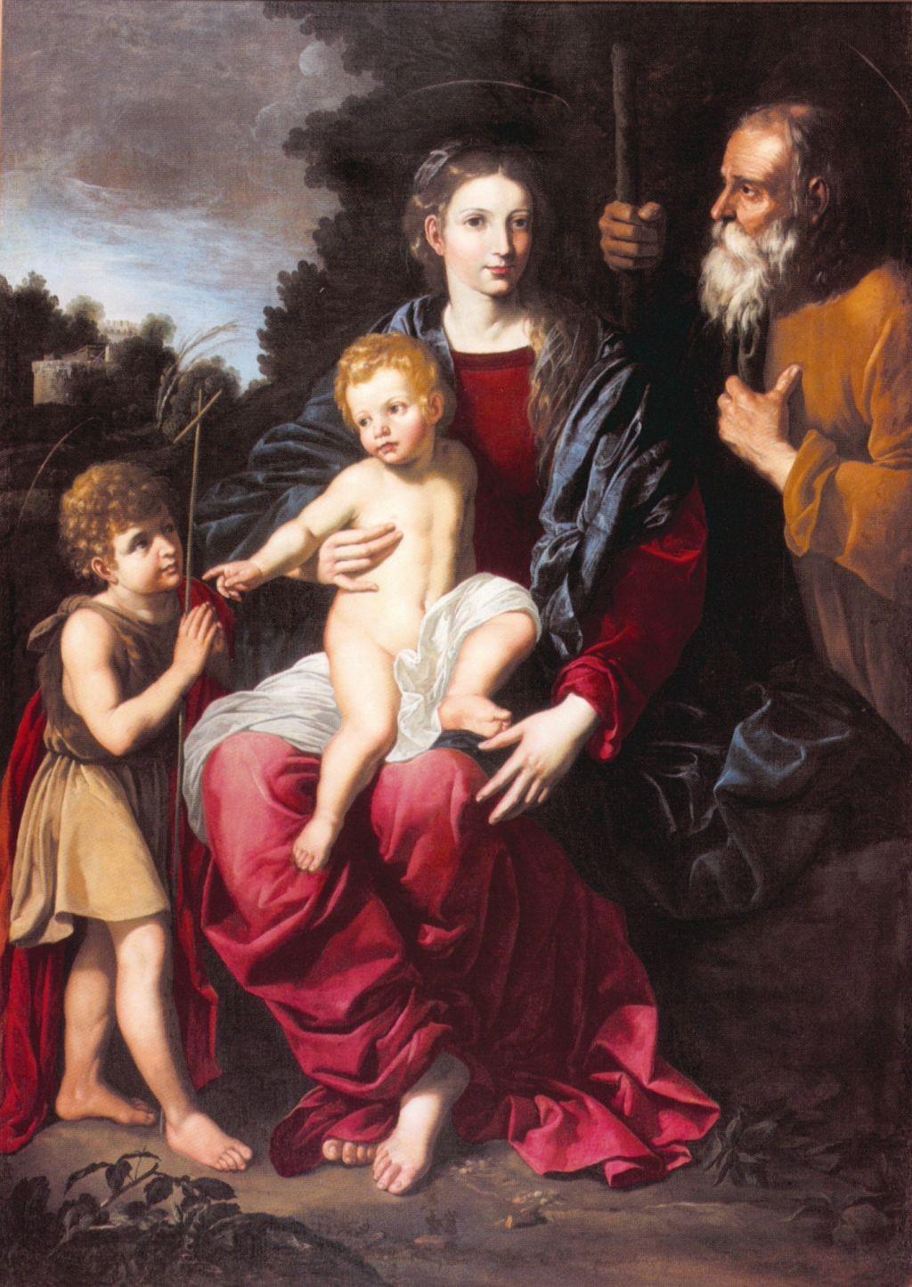 Holy Family, Bartolomeo Cavarozzi
