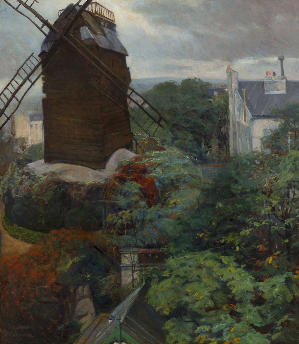 The Moulin de la Galette from the painter's studio, Manuel Feliu de Lemus
