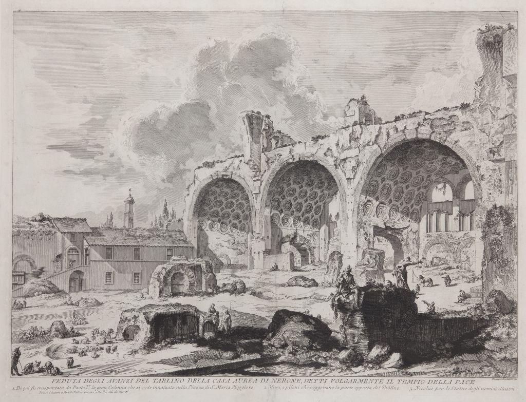 Veduta degli avanzi del Tablino della Casa Aurea di Nerone, Giovanni Battista Piranesi