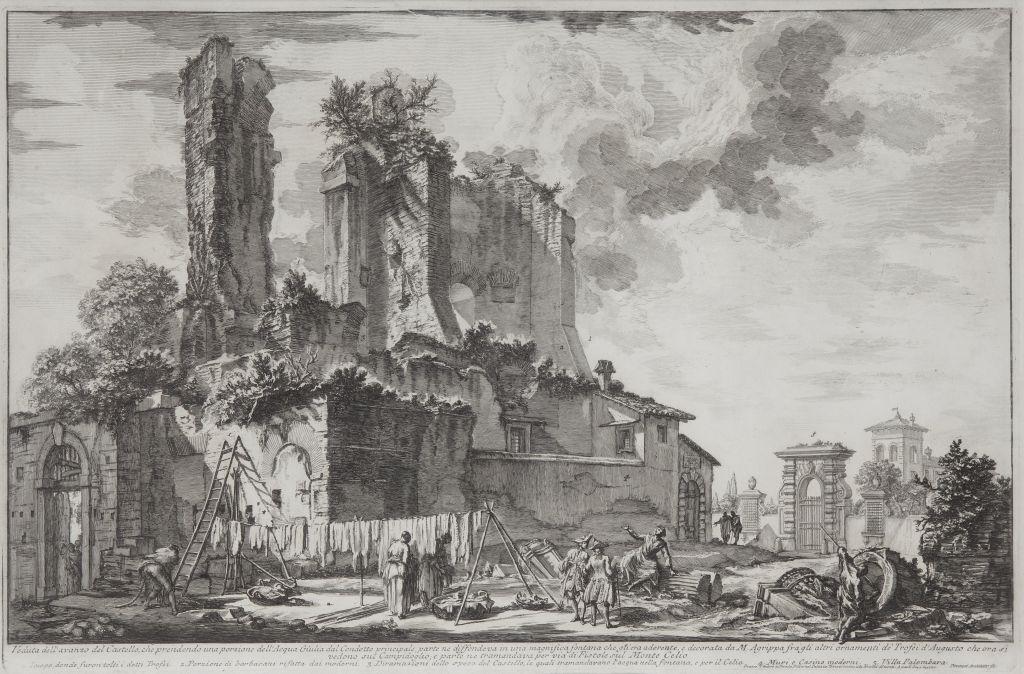 Veduta dell'avanzo del Castello, Giovanni Battista Piranesi