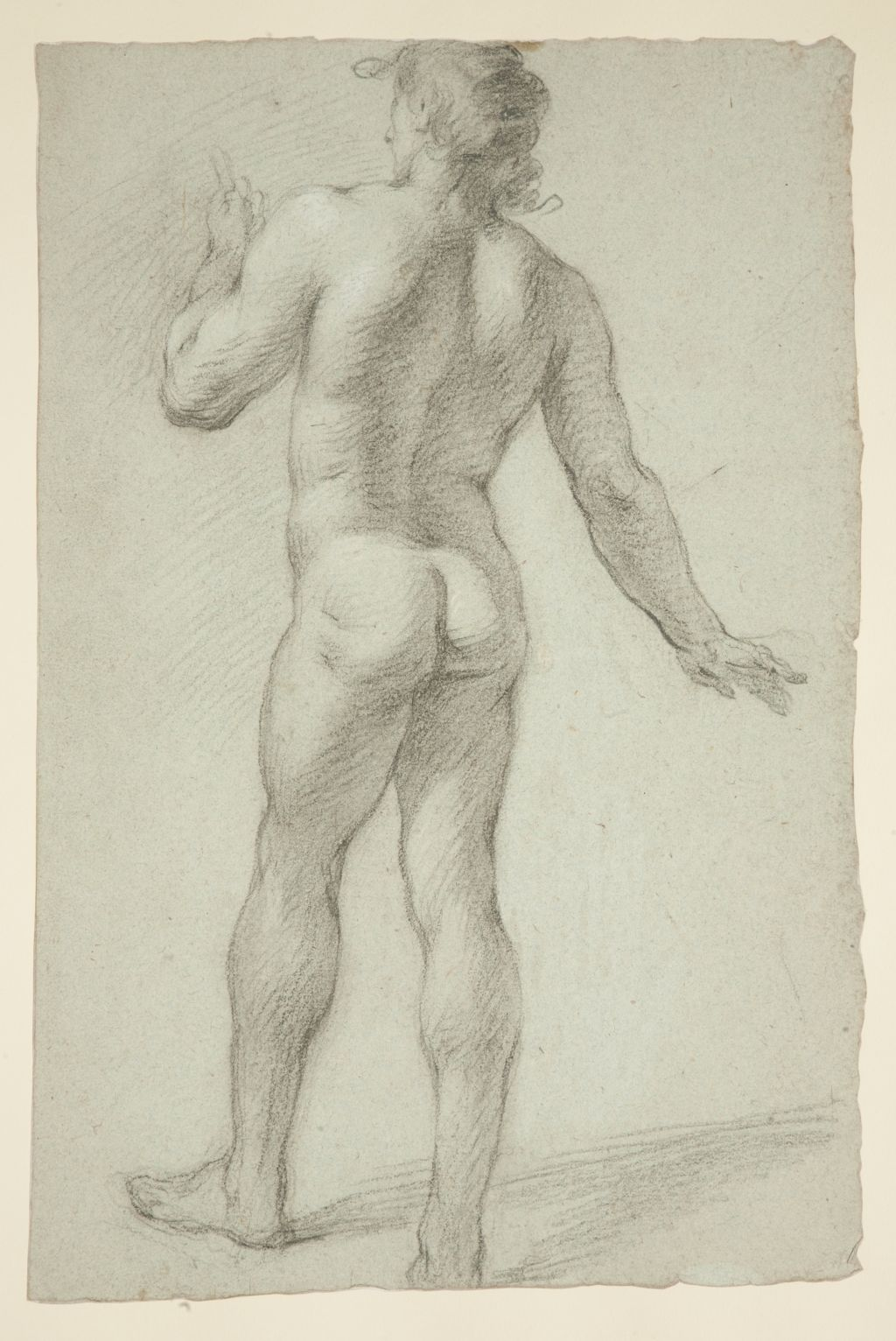 Study of a man seen from the back, Antonio Palomino y Velasco