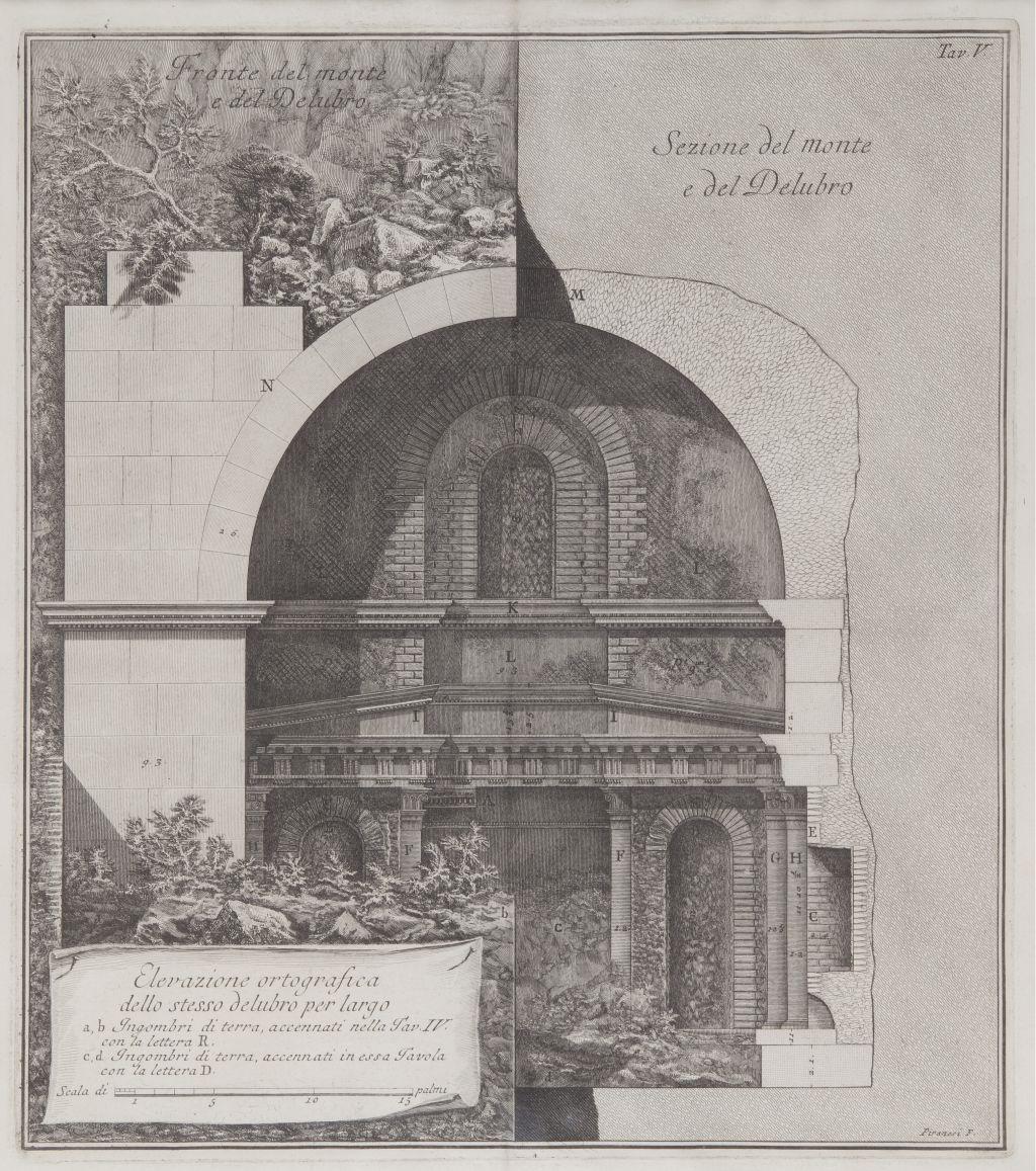 Elevazione ortografica dello stesso delubro per largo, Giovanni Battista Piranesi