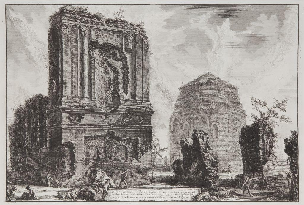 Veduta del Sepolcro di Pisone Liciniano su l'antica via Appia, Giovanni Battista Piranesi