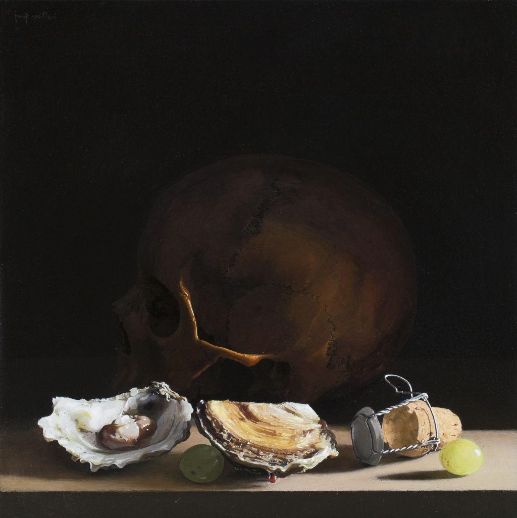 Josep Santilari, Vanitas, oysters and champagne