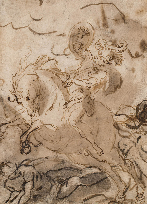 Cavaller en batalla, Ippolito Borghese