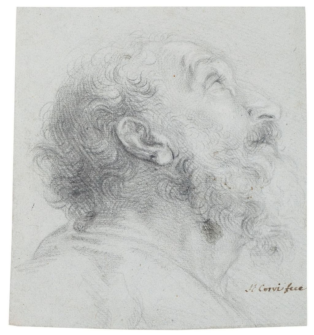 Domenico Corvi, Head of a Bearded Man