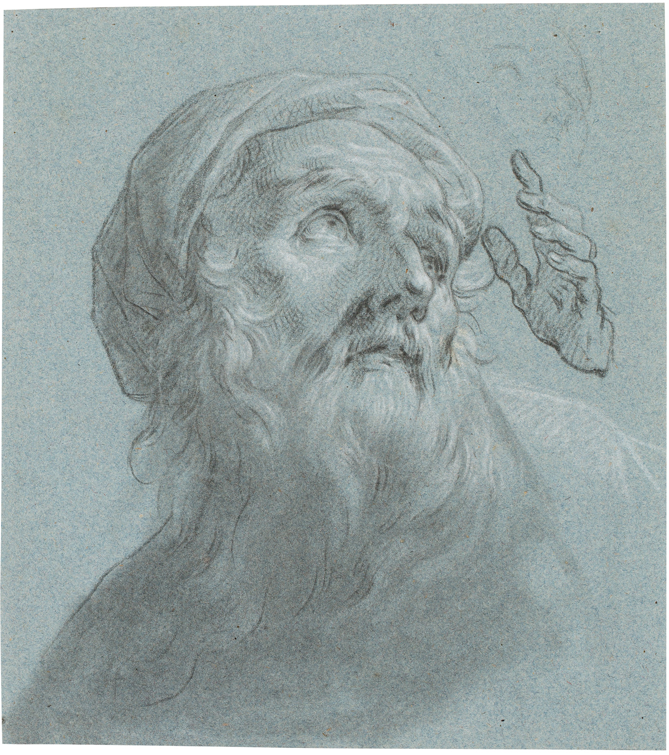 Zacarías González Velázquez, Study for Face and Hands of Saint Joachim