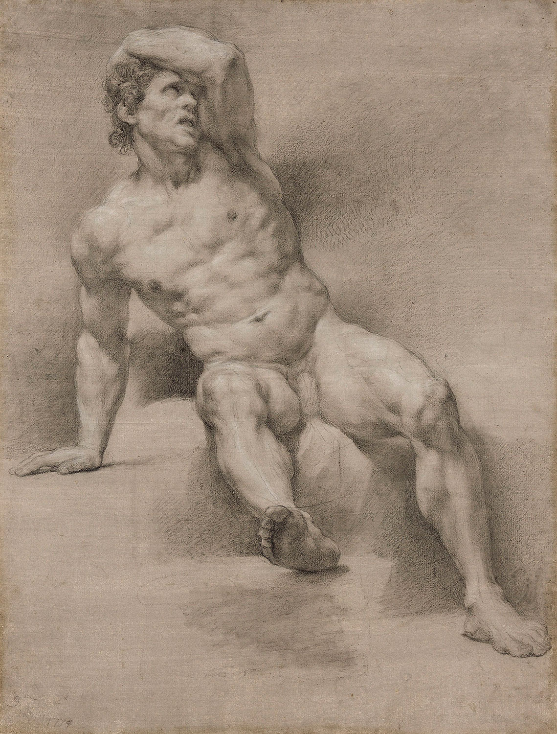 Anton Raphael Mengs, Study of male nude