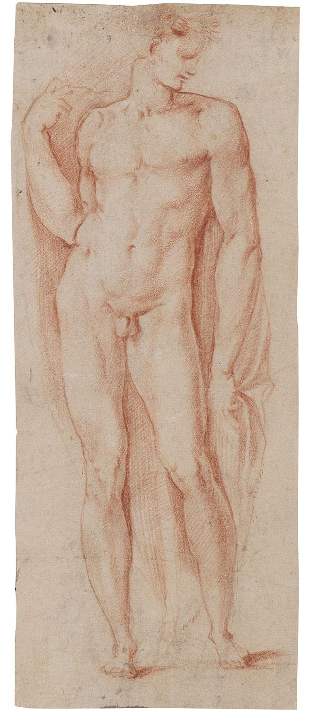 Study of standing man, Giuseppe Cesari, called Il Cavalier d'Arpino