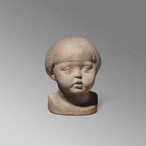 Manolo Hugue - Escultura Retrato de Tití