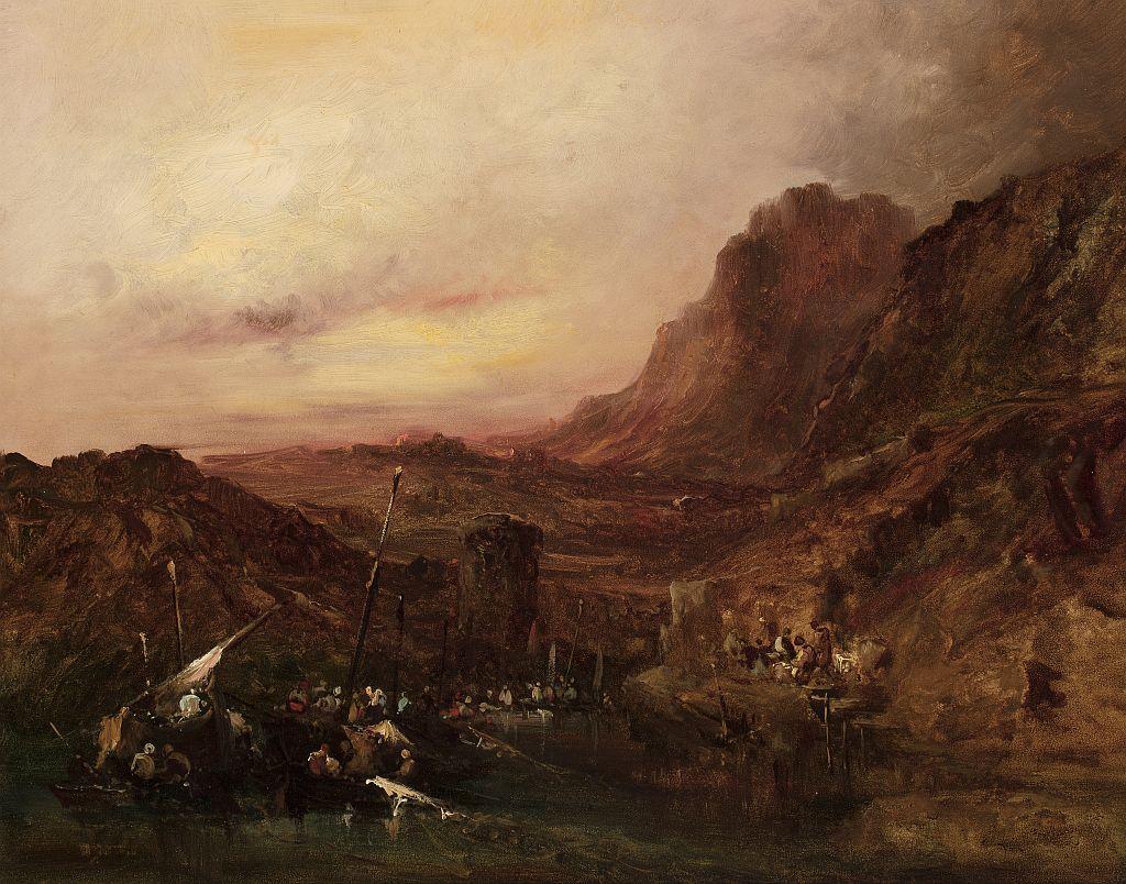 Eugenio Lucas Velázquez, Atardecer en la costa del Norte de África