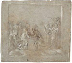 Pedro de Campaña, David y Melquisedec