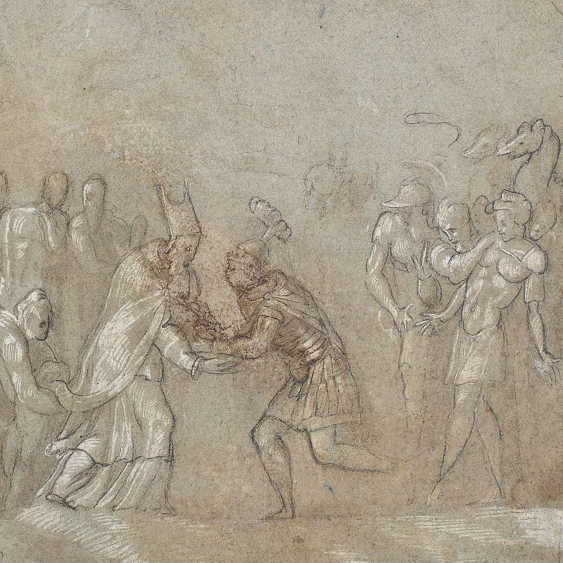 Pedro de Campaña, David encuentra Melquisedec