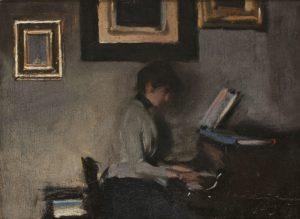 Ramon Casas - Elisa tocando el piano