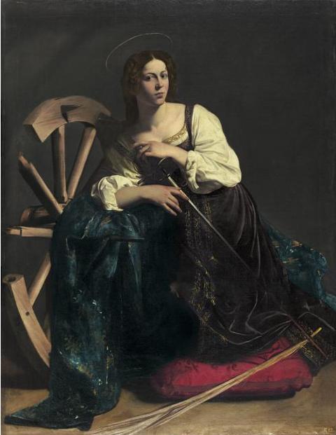 Santa Catalina vista y recreada por Caravaggio