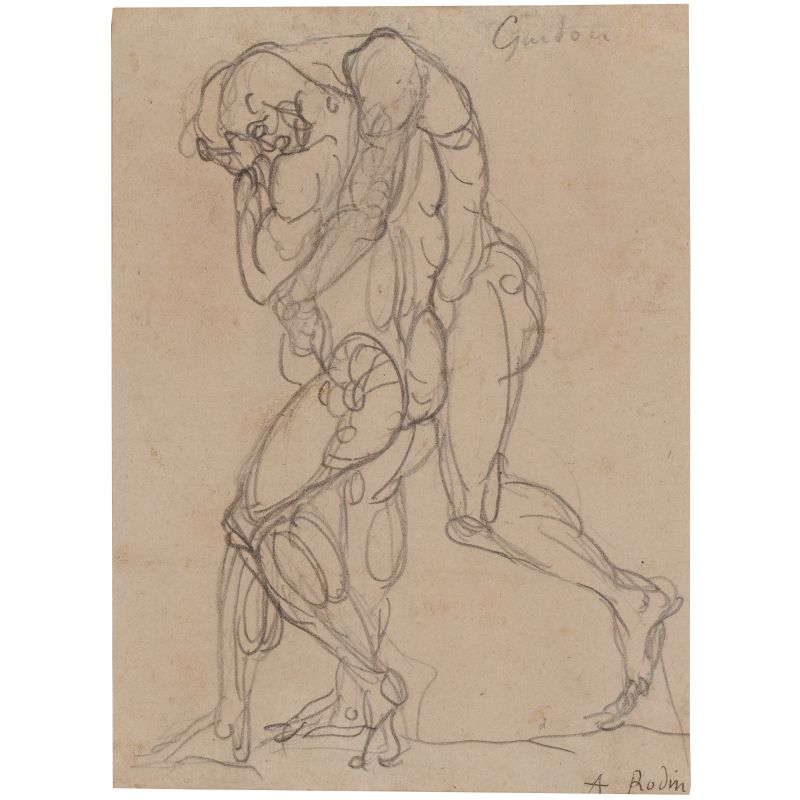 Auguste-Rodin-Guidon-drawing