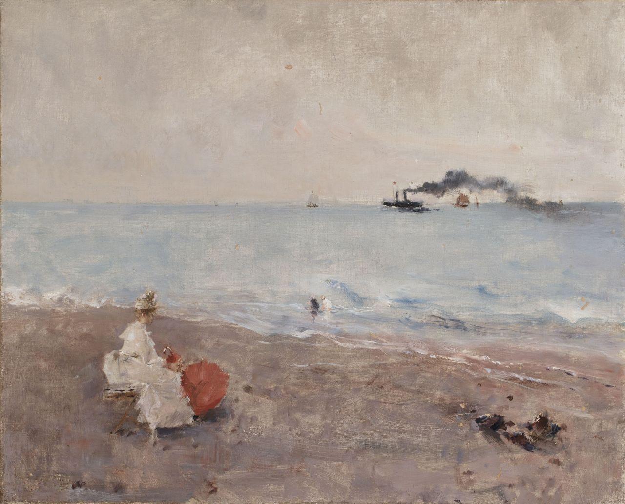 Alfred Stevens, Sur la plage