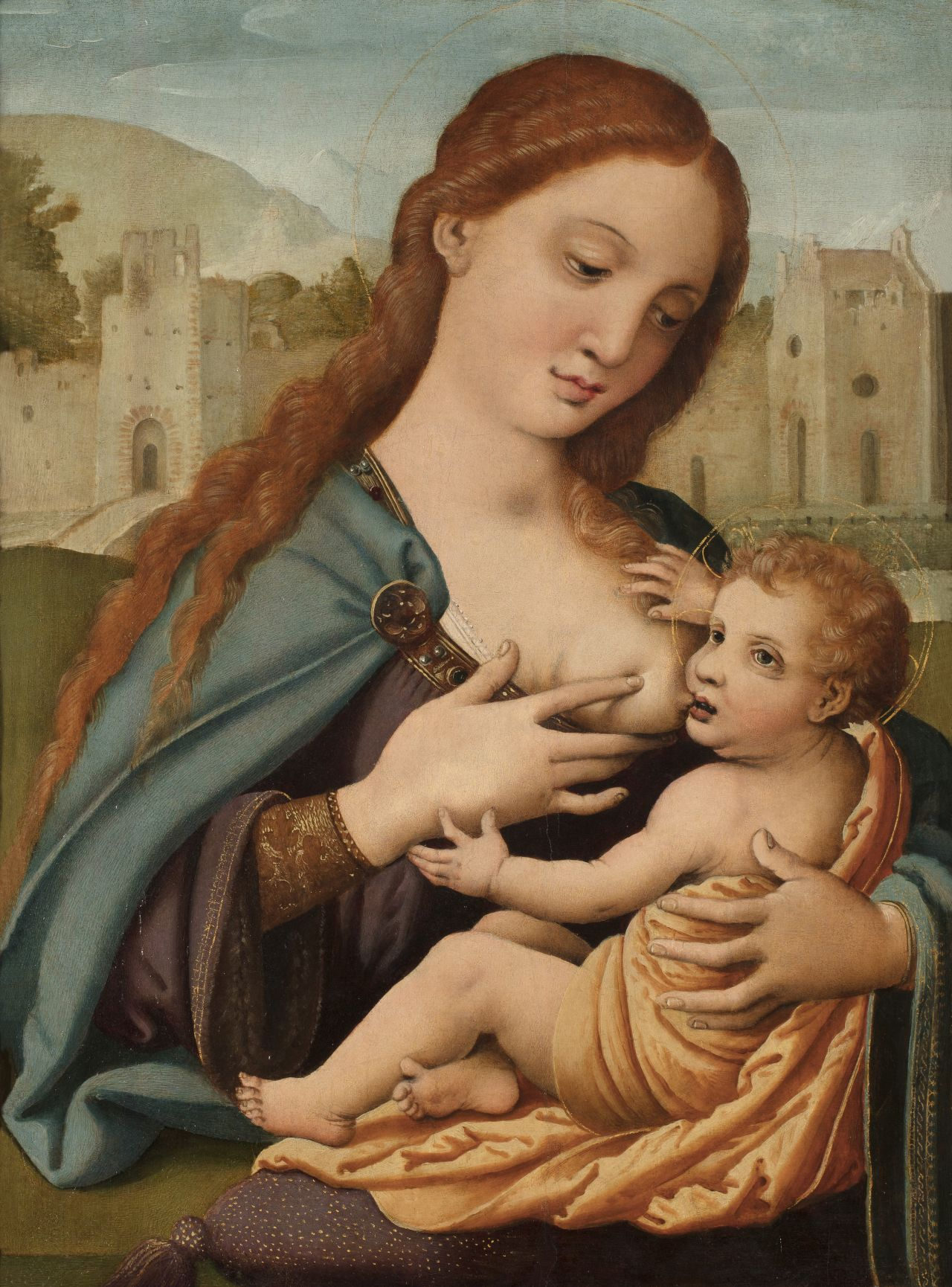 Virgen de la leche, Fernando Llanos