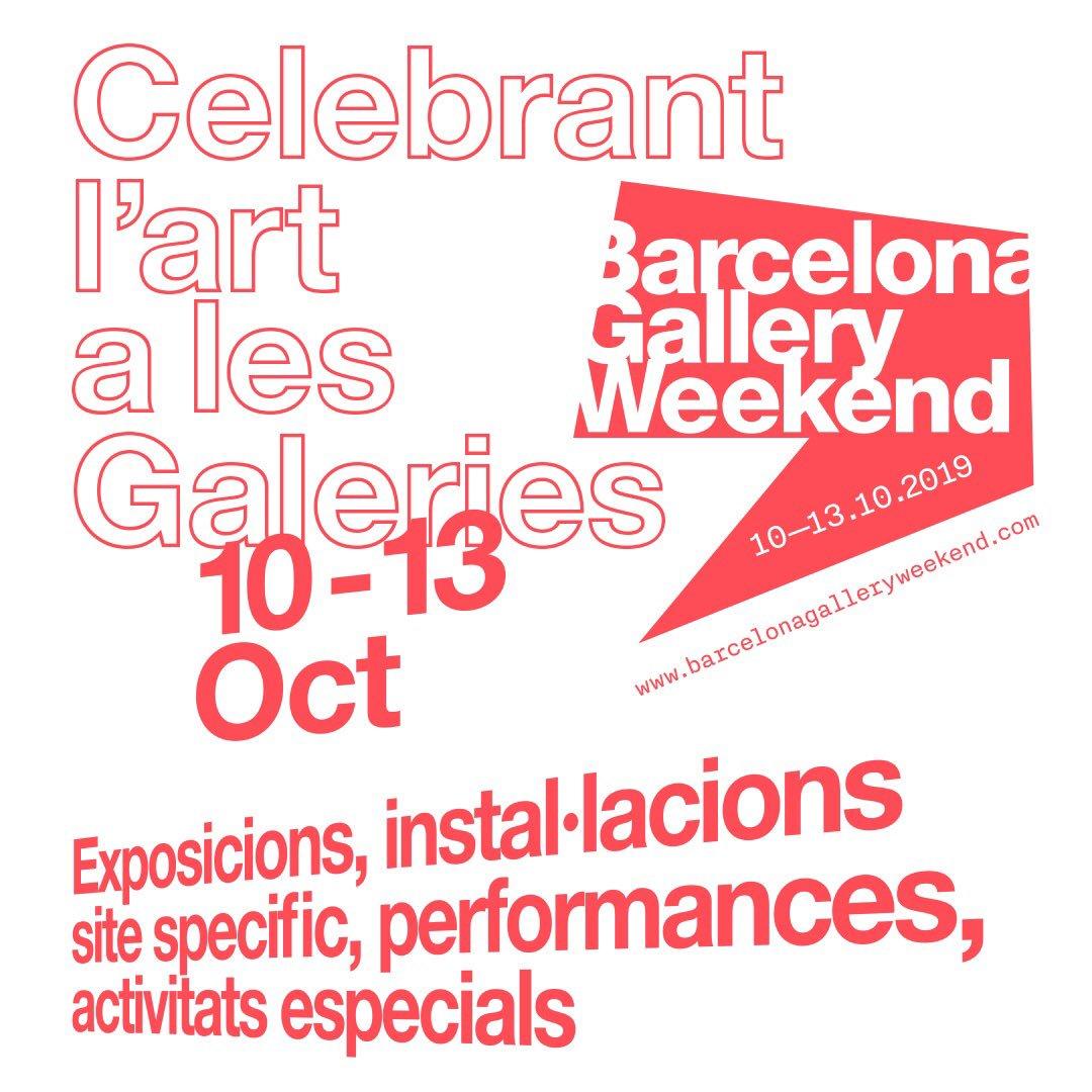 27 galerías y 70 artistas participan en el Barcelona Gallery Weekend