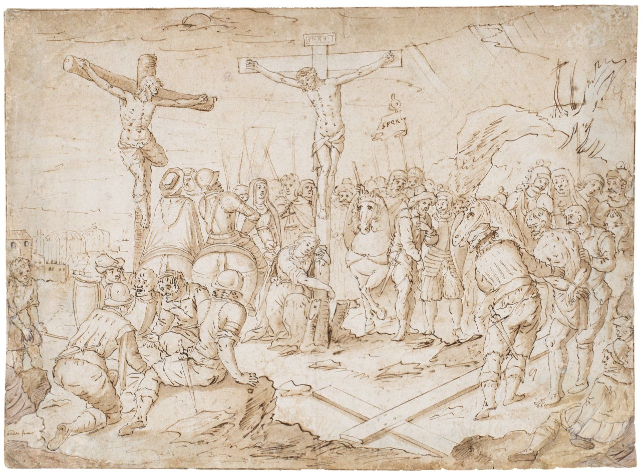 Calvary, Attributed to Frans Hogenberg